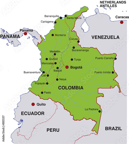 landkarte kolumbien map colombia landkarte kolumbien