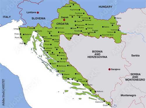 landkarte von kroatien map croatia landkarte kroatien