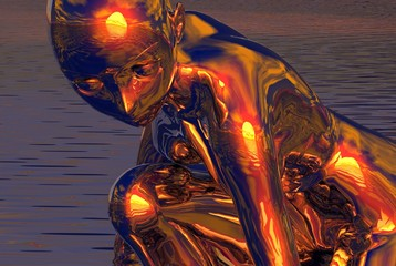 gold sun girl