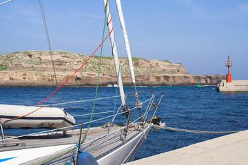 sailboat - ventotene harbour