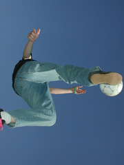 extreme soccer kick