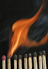 matches on fire