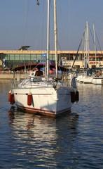 a yacht in marina
