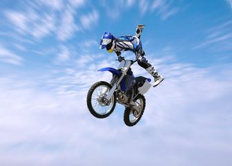 dirt bike stunt rider