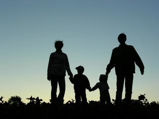 family of four sundown