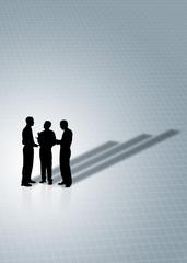 business meeting showing upward graph - profit