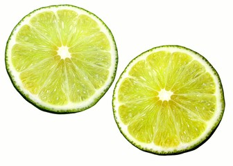 two morsels of lime.