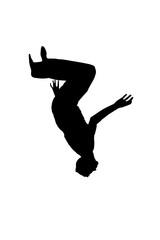 somersault silhouette