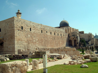 southern wall meets western wall