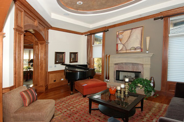 family room with a piano no.2