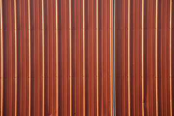 stock photo of a corrugated metal red background