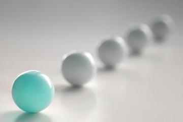 light blue ball