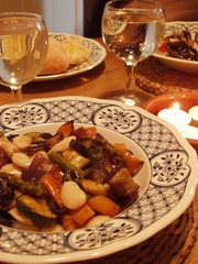 white bean and roast veg salad