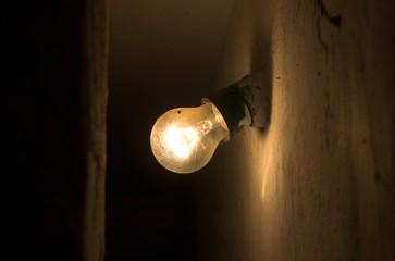 old fashioned electrical bulb