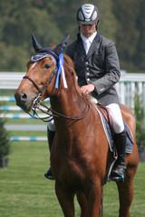 cavalier et cheval récompensé