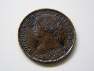 1866 queen victoria farthing, heads