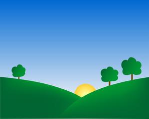 summer hills background