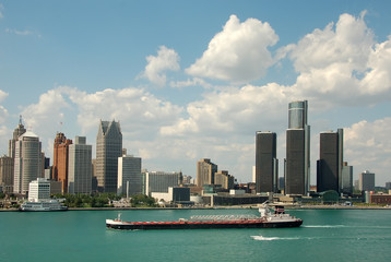 detroit skyline daytime