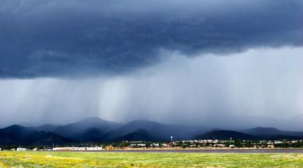 rain over mountains