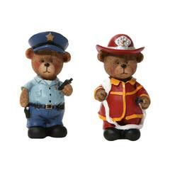 policeman and fireman bears