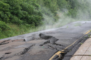 road destroyed