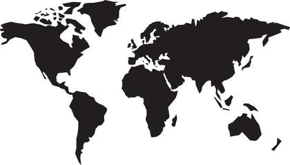 map of the world weltkarte v3
