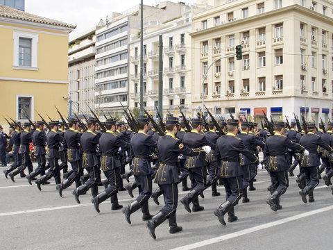army officer school parade