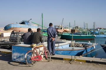 fishermen on coast