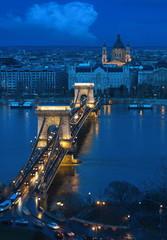 Printed kitchen splashbacks Budapest budapest - the old chain bridge