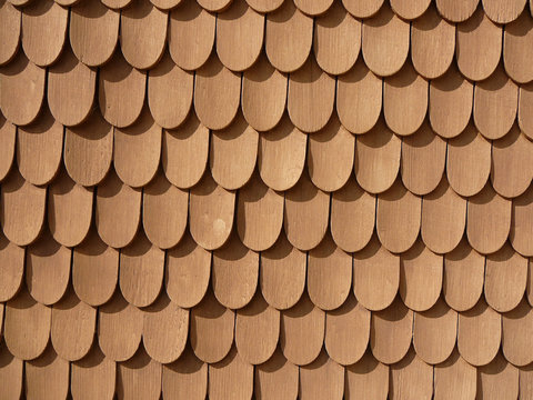 fish scale design on wall