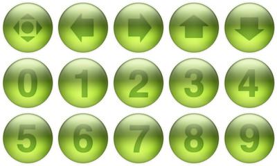 glass buttons set 5