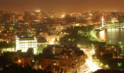 baku city at night
