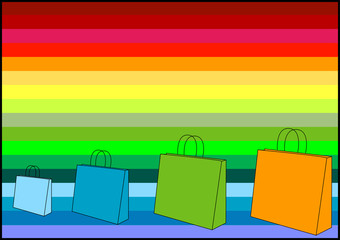 shopping bags - (check out my portfolio for simila