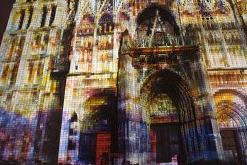 rouen cathedral light show 2