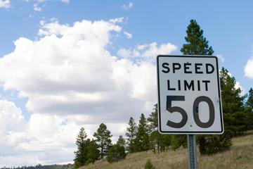Deurstickers Route 66 speed limit 50