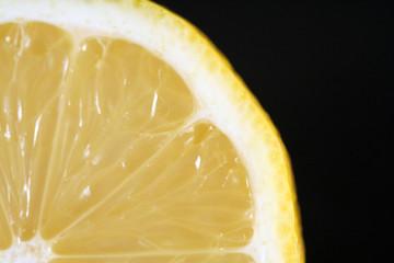 Aluminium Prints Slices of fruit nahaufnahme einer zitrone