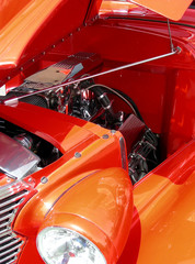 engine in orange