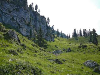 high alpine landscape near zugspitze