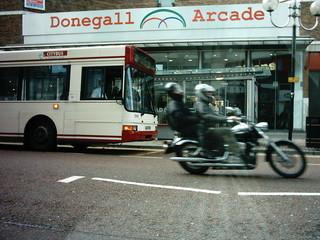 motorbiking in the city