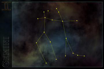 zodiac constellation - gemini