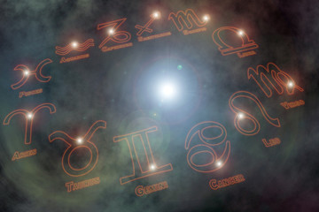 zodiac signs background