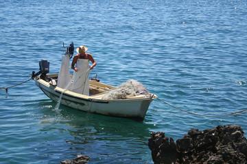 fisherman on the coast