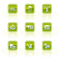 "design elements p.42c ""glossy camping icons"""