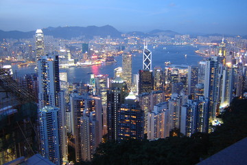 hong kong sightseeing by night
