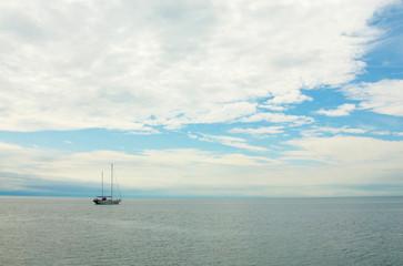 white yacht, baikal, russia