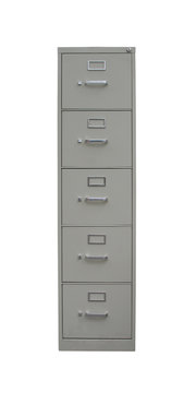 isolated filing cabinet with path