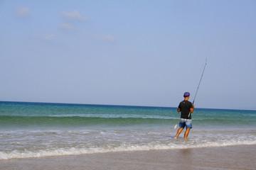 pêcheur en mer à los lances