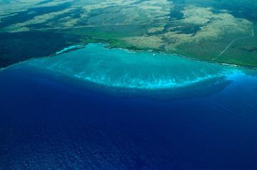 big island aerial shot - beach