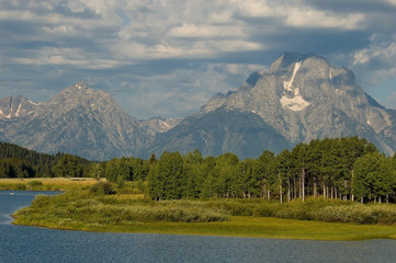 oxbow bend in the summer