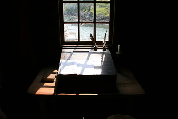 view from a writing desk